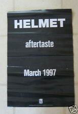 "HELMET 1997 ""aftertaste"" ORGNL US PRE-RELEASE PROMOTIONAL POSTER"