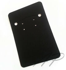 100pc Blank Black Necklace Earrings Paper Display Card for Diy Jewelry Packaging