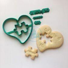 Festa Mamma Sei Parte DMe Amore Love Puzzle Cuore Formina Biscotti Cookie Cutter