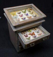 Dolls house Miniature Artisan handmade Butterfly Cabinet