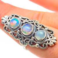 Large Ethiopian Opal 925 Sterling Silver Ring Size 8 Ana Co Jewelry R61920F