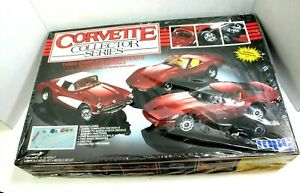 MPC Corvette Collector Series 3 complete Kits 1957 1975 1985  OB Factory Sealed