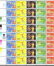 BELOW FACE VALUE! #2553-57 OLYMPICS.MINT SHEET. F-VF NEVER HINGED.