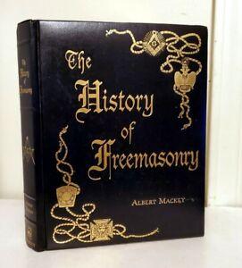 HISTORY OF FREEMASONRY, Albert Mackey, Leather, Illustrated
