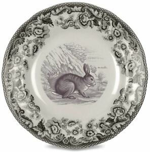 "Spode Delamere Rural bunny rabbit side tea plate, 15cm / 6"""