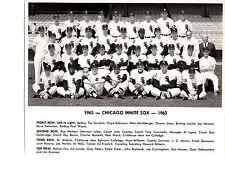 1963 CHICAGO WHITE SOX TEAM 8X10  PHOTO DEBUSSCHERE NBA BASKETBALL BASEBALL USA