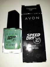 Avon speed dry 30 Second Summer Beach Light Green Nail Polish Varnish. New. 10ml