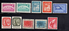 NACIONES UNIDAS UNITED NATIONS NEW YORK 1959 MNG/USED SC.69/76+C6 COMPLETE YEAR