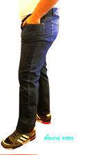 Jeans ESTIVO Uomo tessuto leggero Pantalone VITA ALTA Elastico Taglie Forti