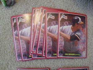 Lot of 12 1984 Donruss Action All star Cal Ripken Jr #20 Jumbo Cards