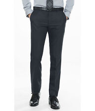 NEW EXPRESS $80 NAVY INNOVATOR WOOL BLEND DRESS PANT SZ 31/32