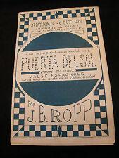 Partitura Puerta del Sol J Bropp Music Sheet