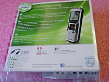 Philips DVT1400 Voice Tracer Digital Recorder with 2 Mic Stereo Recording 4GB