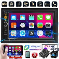 "7"" Car Stereo Radio 2DIN Bluetooth HD MP5 Player  Touch Screen FM USB + Camera"