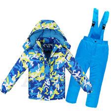 Girl's Boy's Warm Ski Suits Jacket & Pants Set Children's Waterproof Snowsuits