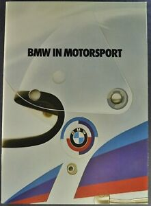 1978-1979 BMW Racing Brochure 3.0CSL 633CSi Coupe Excellent Original