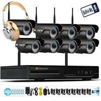 1080P Wireless Security Camera System Outdoor Wifi IP CCTV Home IR Night Vision