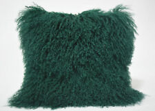 Cuscini verde in pelle per la decorazione della casa