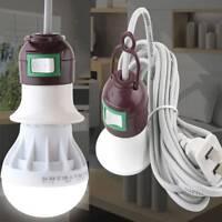 US Plug E27 Edison Screw Light Lamp Bulb Holder Socket Switch Power Cable Cords