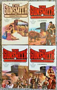 THE GUNSMITH SERIES J.R. ROBERTS VINTAGE WESTERN SERIAL PAPERBACK 4 BOOK LOT