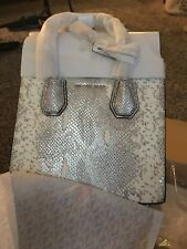Michael Kors Snakeskin Mercer Smaller Tote Shiny New In Box With Tags Wrapped Up