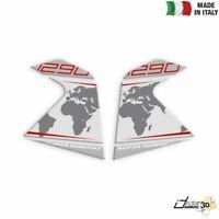 ADESIVI LATERALI RESINA ARGENTO ROSSO FOR KTM 1290 Super Adventure 2014-2016