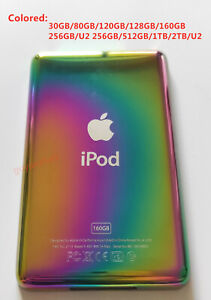 NEW Back  Cover for iPod Classic 6/7th Video 5th/ Thin ( Colored )