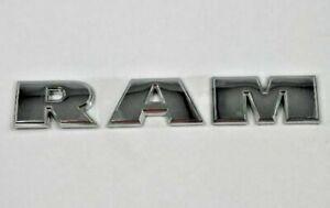 08-18 Dodge Ram 1500 2500 New Front Door Ram Nameplate Chrome Mopar Factory Oem