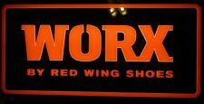 """WORX BY RED WING SHOES LIGHTED SIGN 33"""" X 16"""" X 5.5"""""""