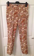 Mesdames Zara à Motifs Pantalon Slim-Taille XS