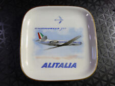 1960s 1970s ALITALIA Airline ASHTRAY Porcelain Richard Ginori Ash Tray Aeroplane