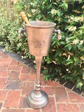 Distressed Silver/Pewter Floor Standing Champagne Bucket