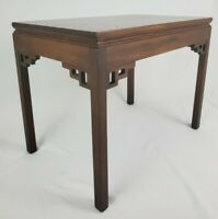 Vintage Kittinger Chinese Chippendale End Table Mahogany Wood A604