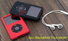 Silicone Skin Cover Case for iPod Classic 6th 160GB Video 60GB 80GB (THICKx2pcs)