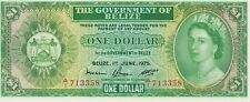 More details for p33b belize one dollar banknote in crisp mint condition dated 1975