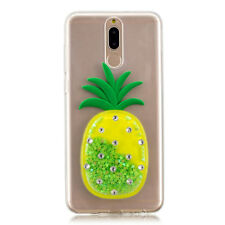 3D Case Quicksand Liquid Pineapple Clear Soft Silicone Cover Skin For Huawei