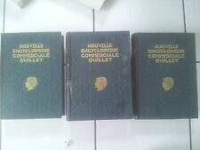 Nouvelle Encyclopédie commerciale QUILLET  tomes 1, 2 et 3  ( 1929 ) bel état