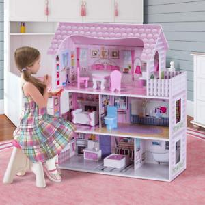 Casa Delle Bambole In Legno Per Bambina Casa Giocattolo Dei Bambini 3 Piani Con