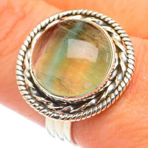 Green Fluorite 925 Sterling Silver Ring Size 9.75 Ana Co Jewelry R69992F