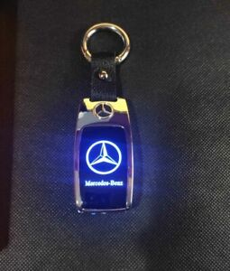 Key Chain Rechargeable Electric  Lighter Flashlight Led logo for Mercedes