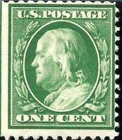 ORLEY STAMPS  US SCOTT Cat # 374 US 1910 1 Cent Franklin Postage Stamp   MNH OG