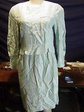 Women's Petite Vintage Leslie Fay Size 12P Turquoise LS Shift Dress NWT