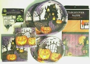 HAUNTED HOUSE Halloween Party Supply DELUXE Kit w/ Glow Balloons & Table cover