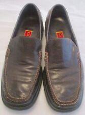 Cole Haan Nike Air Santa Barbara Leather Slip On Brn Driving Loafer 11 1/2 M Lot