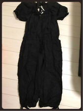 COMME DES GARCONS LINEN HEMP BLACK JUMPSUIT BOILER SUIT OVERALL DRESS M