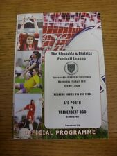 21/04/2010 Rhondda League U15 Cup Final: AFC Porth v Treherbert BGC [At Maerdy P