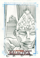 The Complete Battlestar Galactica John Czop Sketch a Fex Card - Lucifer