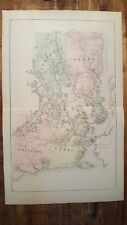 ANTIQUE Colored Map of LUBEC/TRESCOTT/PERRY, MAINE -George N. Colby & Co. 1881