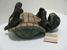 "World of Wonders ""Slow But Steady Turtle"" Handcrafted Resin Wine Bottle Holder"