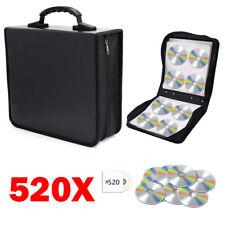 Portable 520 Disc CD DVD Organizer Bag PU Leather Wallet Holder Case Box Storage